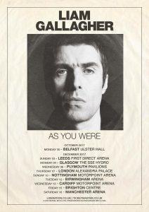 Liam Gallagher UK Tour