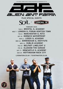 Alien Ant Farm 2018 Tour